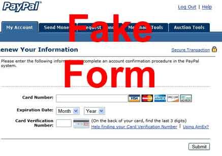 fake form