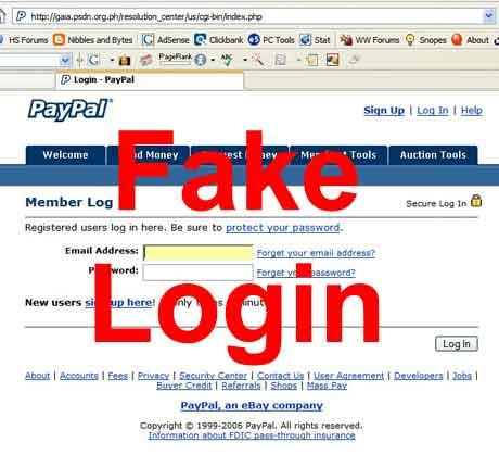 fake login